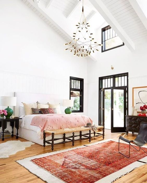 @ondesigninteriors living room inspiration trend contemporary bedroom mirrors vintage contemporary white neutrals black