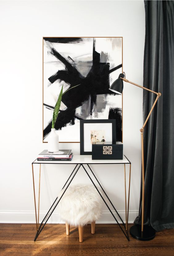 @ondesigninteriors living room inspiration trend contemporary cart bar art mirrors vintage contemporary white neutrals black