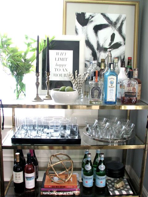 @ondesigninterios Crystal cart bar gold decor interior design trend 2018 designer blog